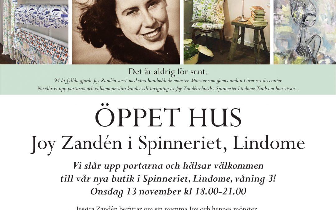 13 nov Konstkväll med Jessica Zandén på Spinneriet